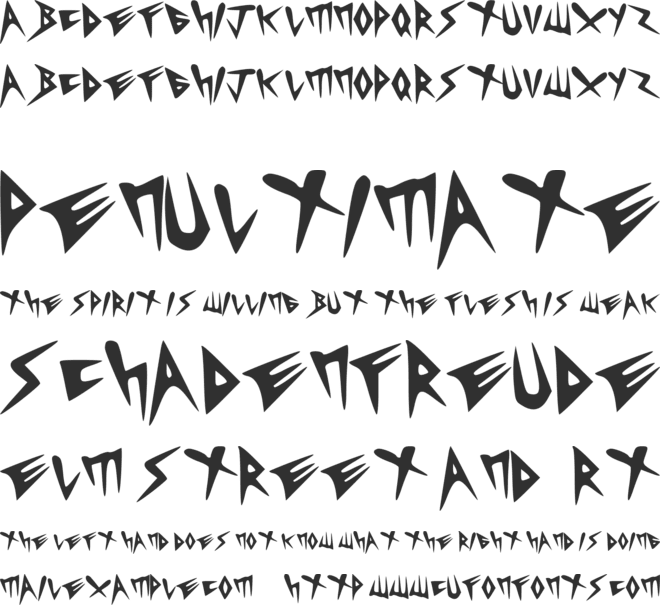 Heavycrist font preview
