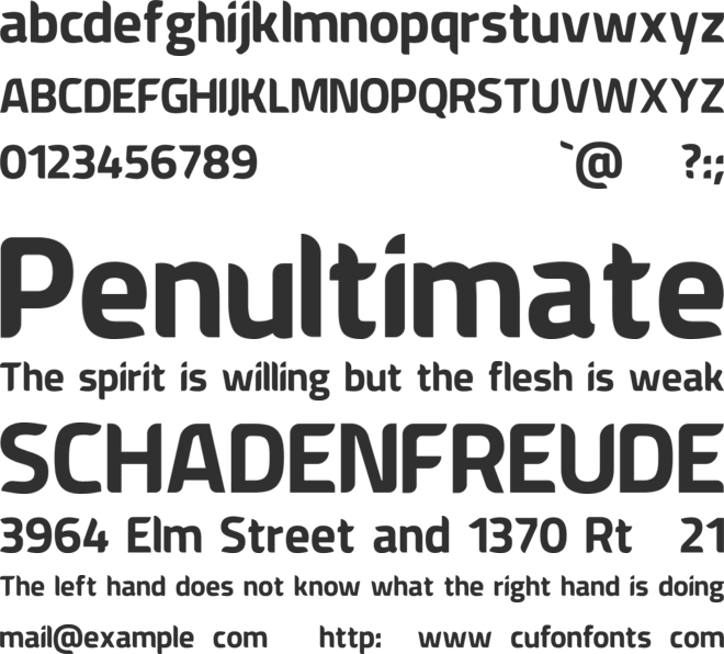 American Fox font preview