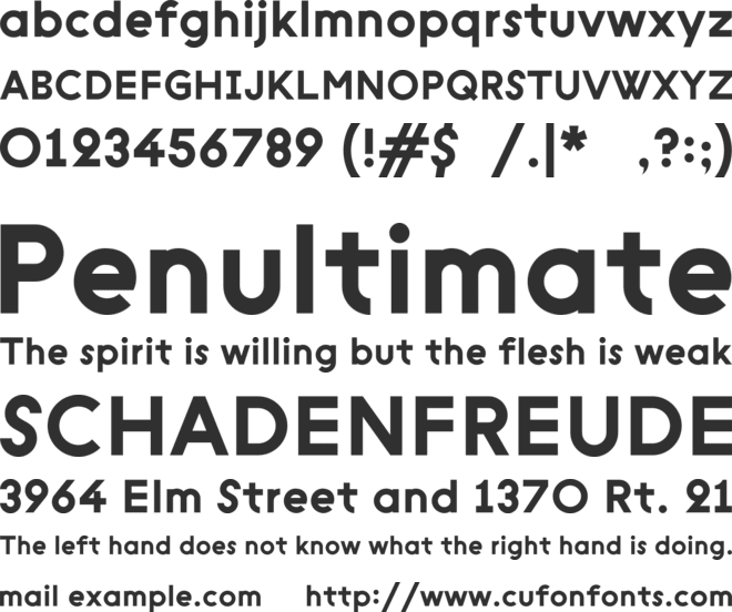 Geometric Sans Serif v1 font preview
