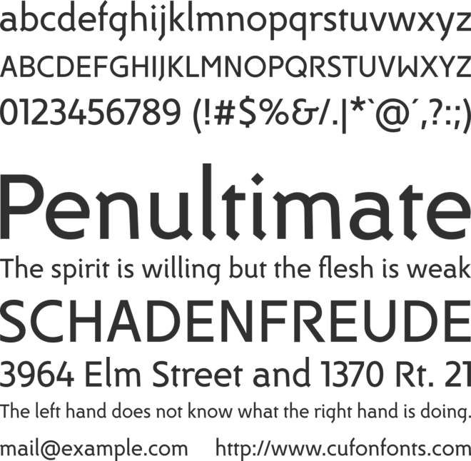 DeeDee font preview