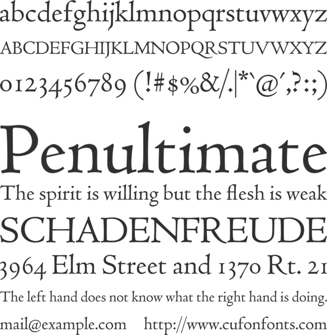 Coelacanth font preview