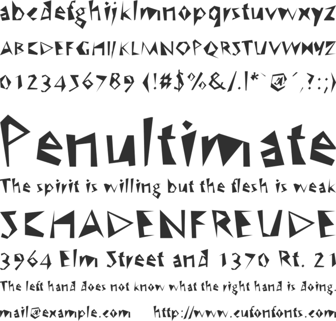 WC Speed Bta font preview