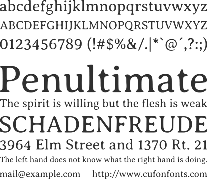 Averia Serif GWF font preview