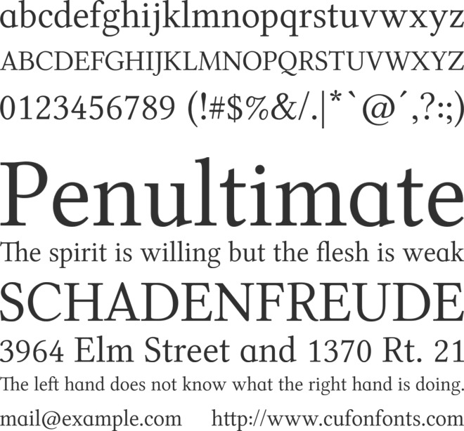 Libertinage font preview