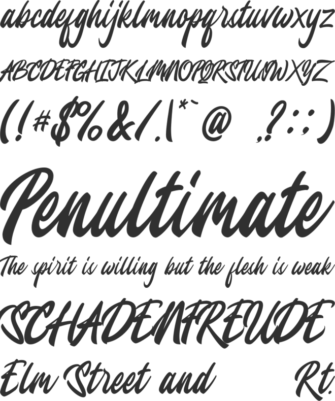 Jesselyne font preview