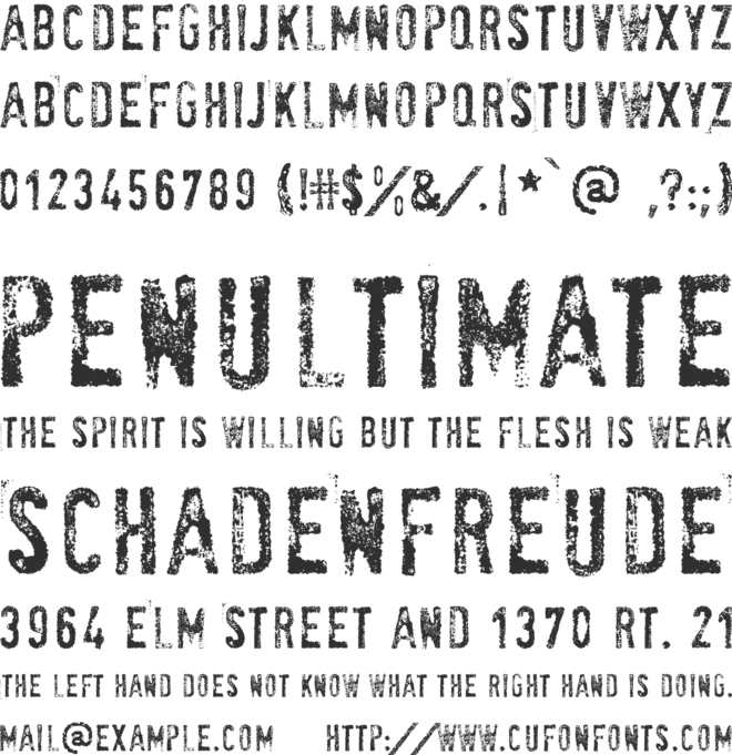 SociaL AnimaL font preview