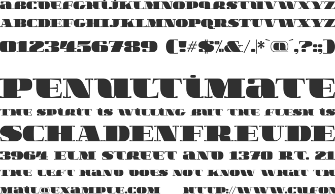 BoldesqoSerif4F font preview