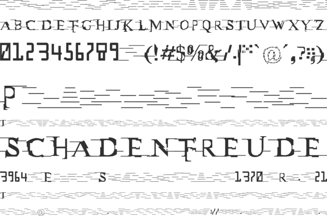 Miltown font preview