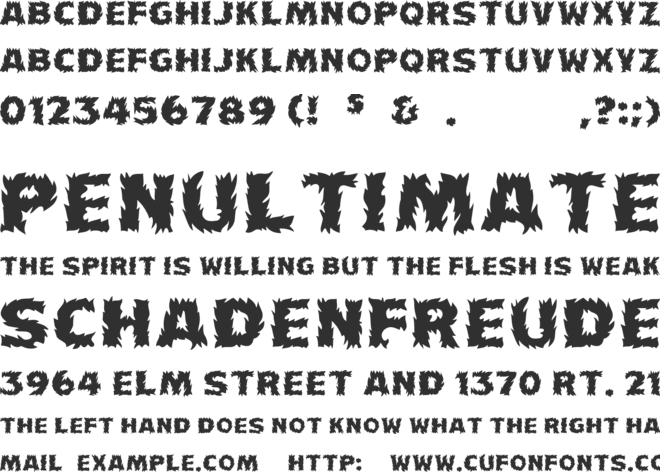 Firecat font preview