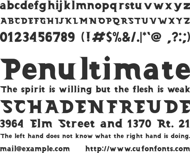 Barong (Demo) font preview
