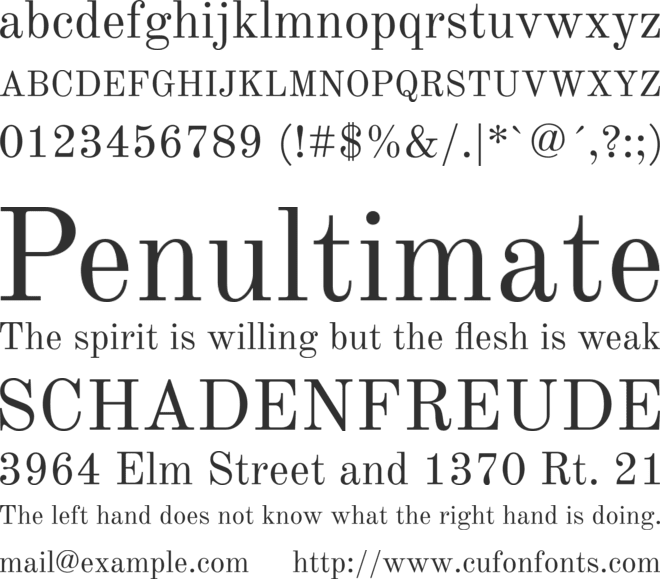 Old Standard font preview