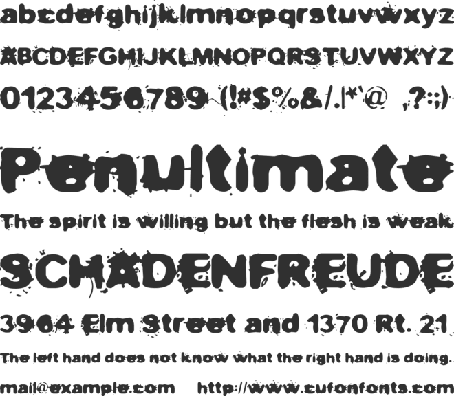 Not now, I have a headache! font preview