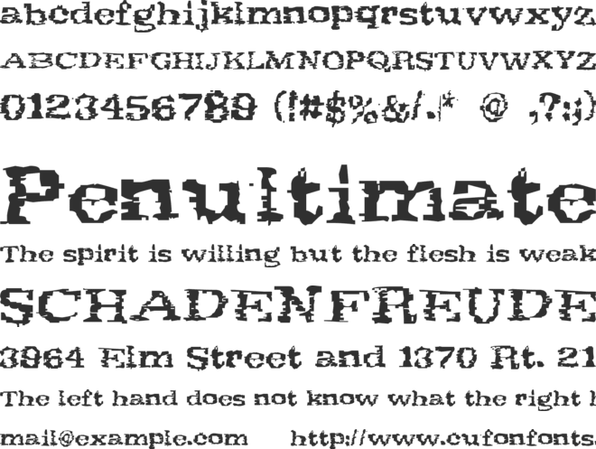 Scribs font preview