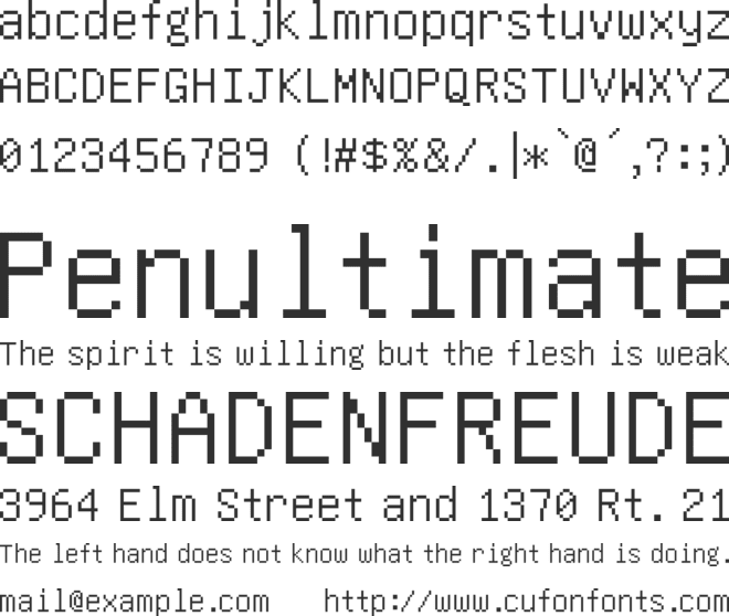 Video font preview