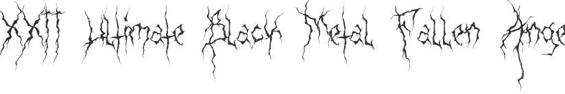 XXII Ultimate Black Metal font download