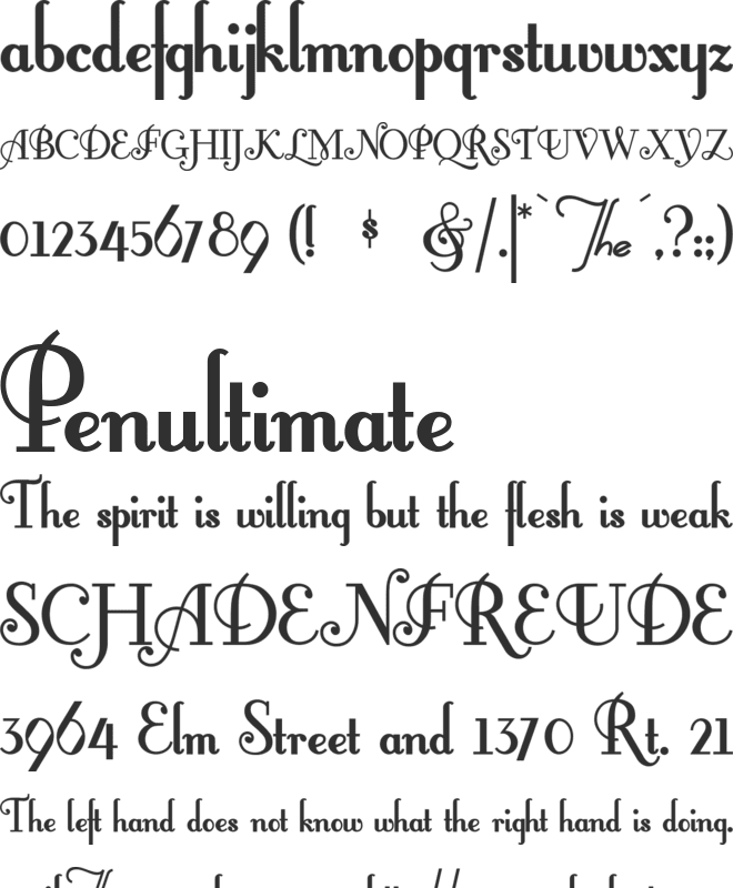 FontleroyBrown font preview