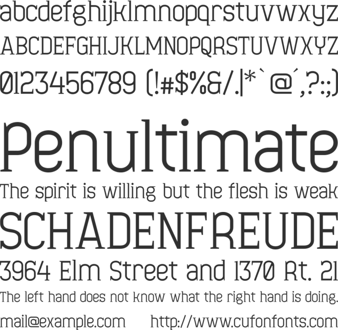 Minaeff Ect font preview