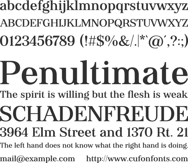 Virgula Vulgaris font preview