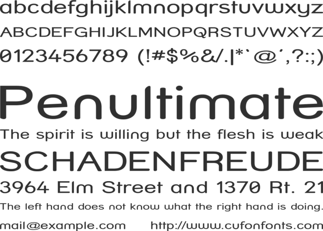 Street - Compressed font preview