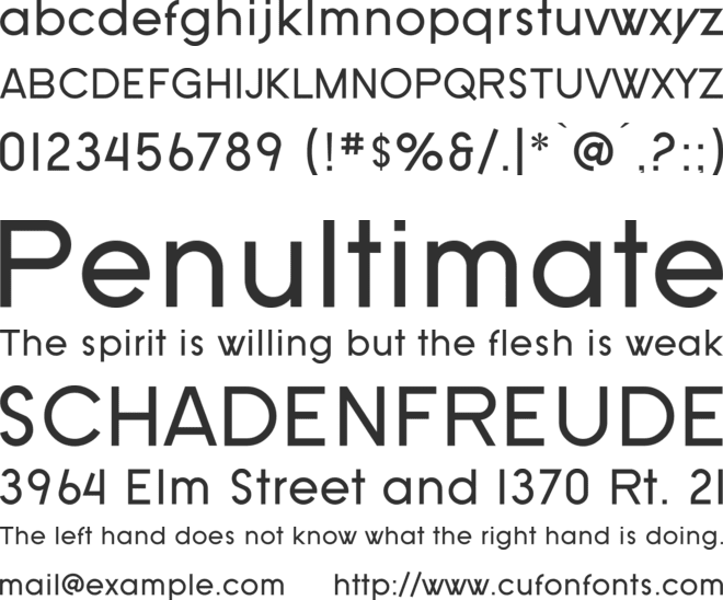 SF Old Republic font preview