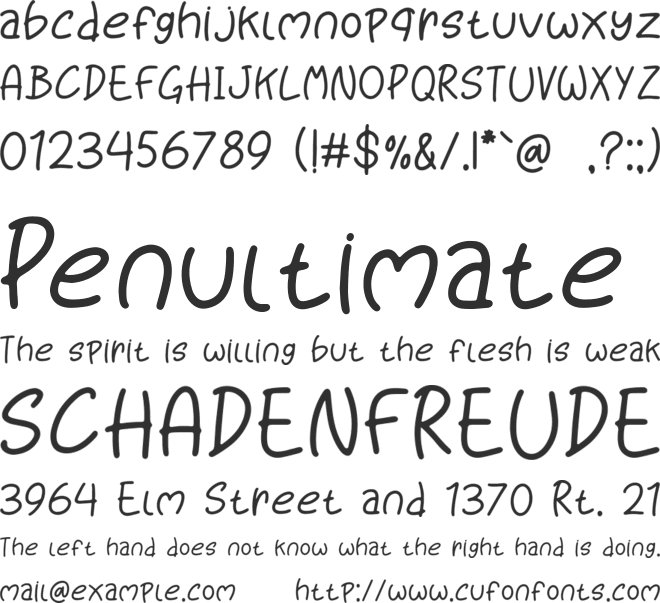 Kiddo Sketch font preview