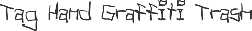 Tag Hand Graffiti Trash font download