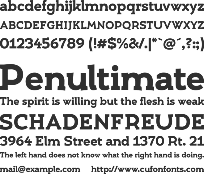 Umba Slab font preview