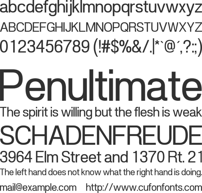 POE Vetica New font preview
