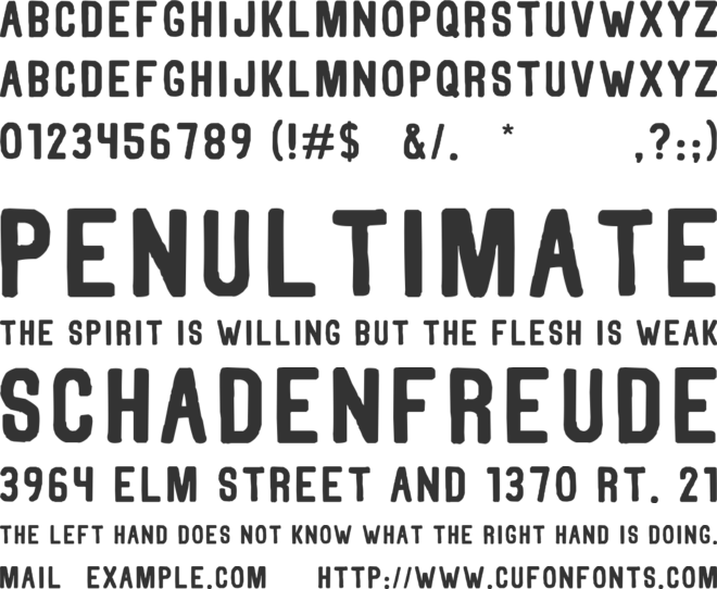 Thorne Normal font preview