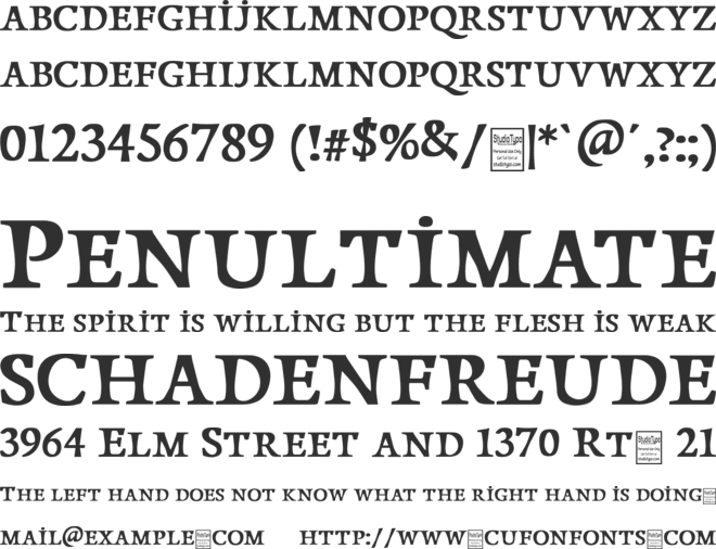 Papillons font preview