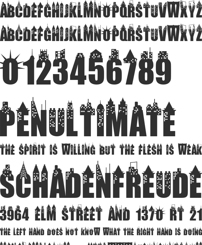 New York City font preview