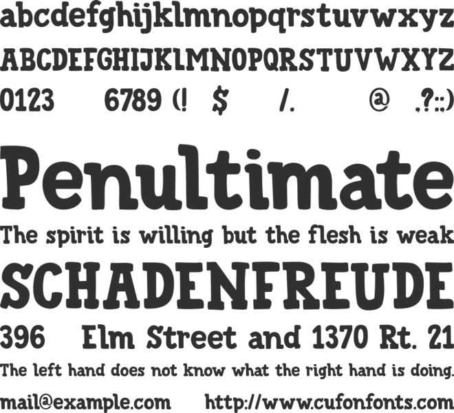 DK Trained Monkey font preview