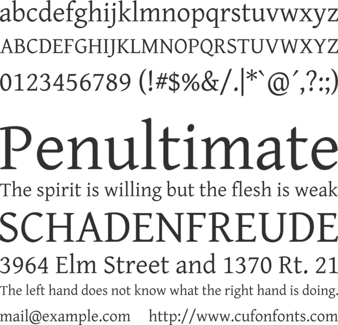 Gentium Basic font preview
