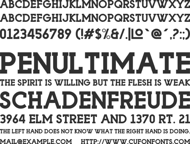 Playoffs Serif font preview