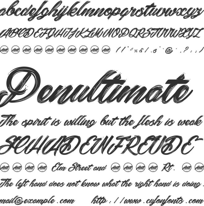 Snowballs City_PersonalUseOnly font preview