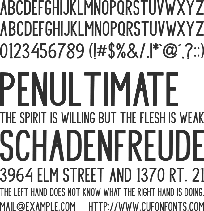 SHOOTING font preview