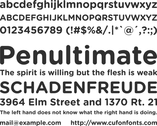 Gotham Rounded font preview