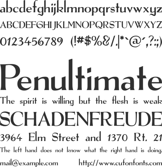 The Real Font font preview