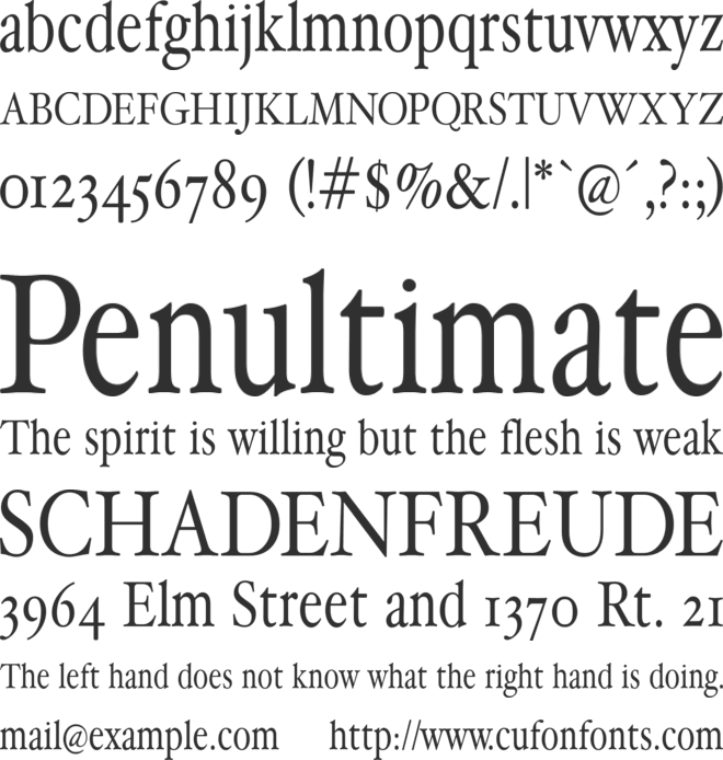 HollaMediaeval font preview