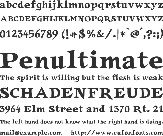 Auca font preview