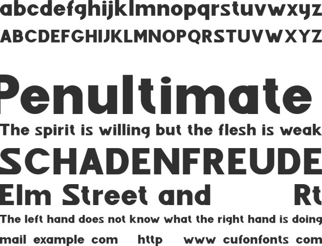 Fenord Free font preview