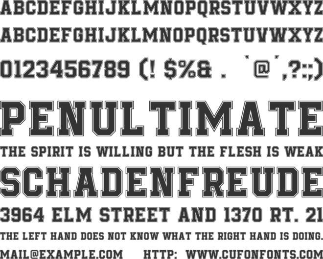 Be True To Your School font preview