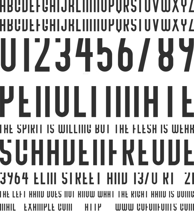 Bivoac Reguler font preview