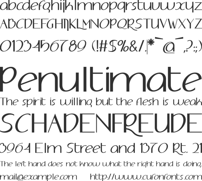 Adolphus font preview