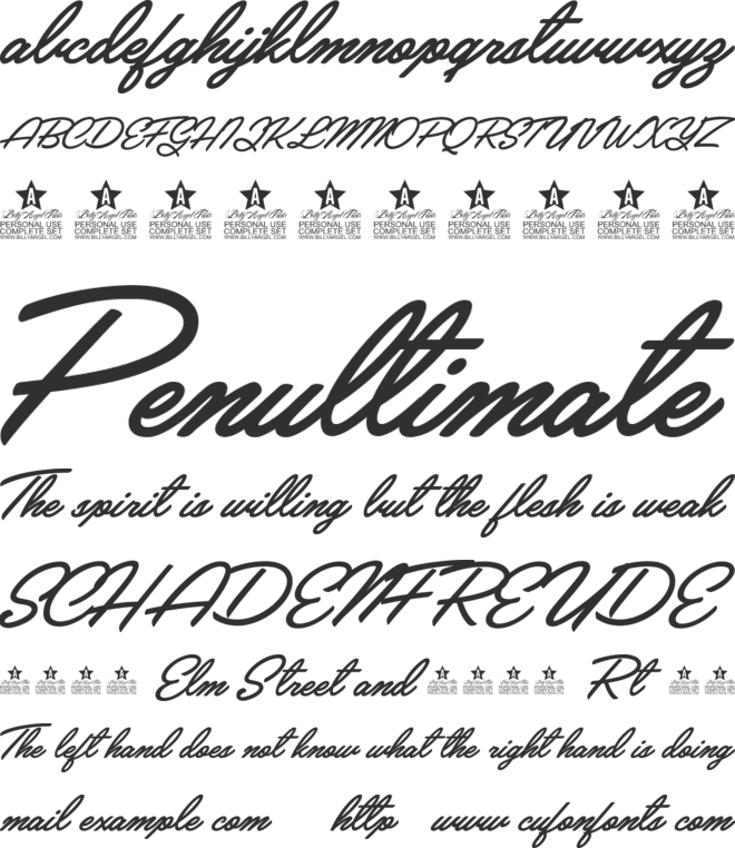 Crystal Personal Use font preview