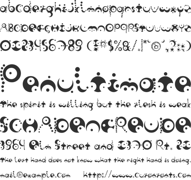 Fish in the bathroom font preview