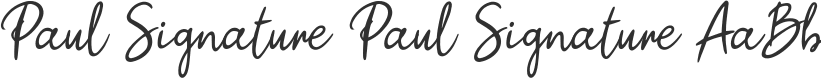 Paul Signature font download