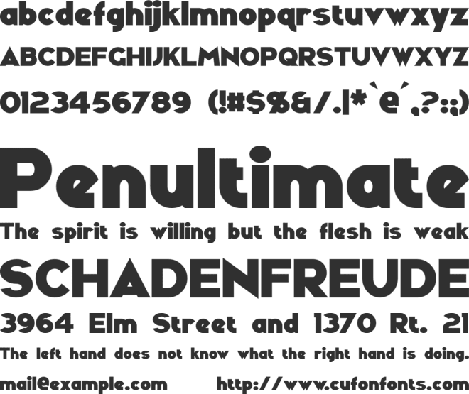 Ravenwood font preview