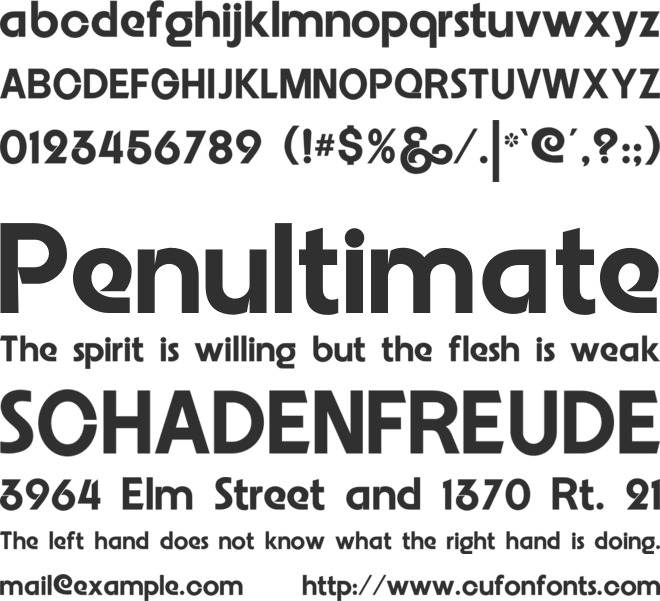 Embrionic55 font preview