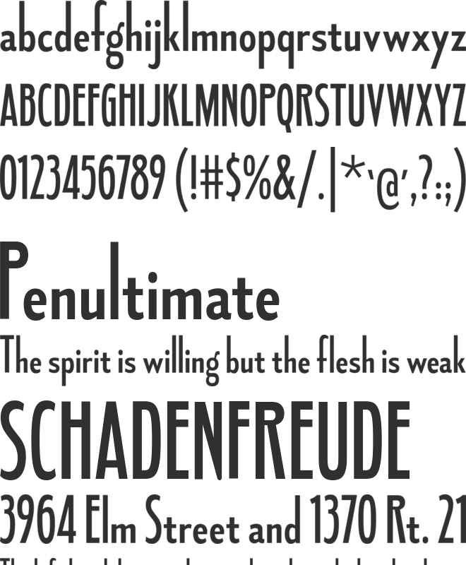 Fledgling font preview